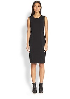 DKNY Mesh-Panel Sheath Dress
