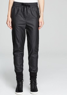 DKNY Mixed Media Drawstring Sweatpants