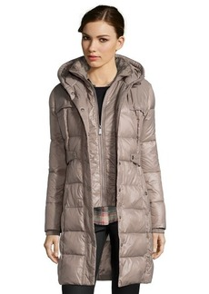 DKNY mushroom quilted 'Kate' down fill hooded jacket