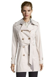 DKNY muslin cotton blend double breasted 'Harper' trench