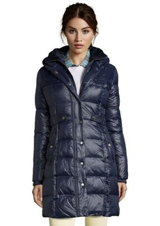 DKNY new midnight quilted 'Kate' hooded down coat