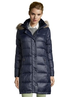 DKNY new midnight quilted nylon 'Sarah' down filled hooded coat