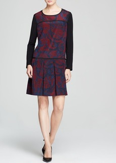 DKNY Paisley Drop Waist Dress