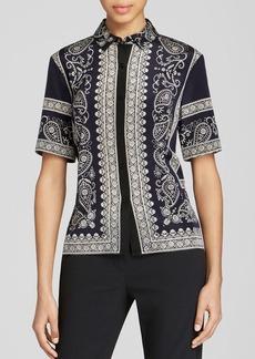 DKNY Paisley Print Button Up Shirt