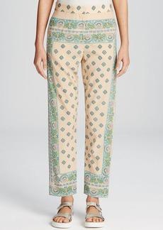 DKNY Paisley Print Silk Pants