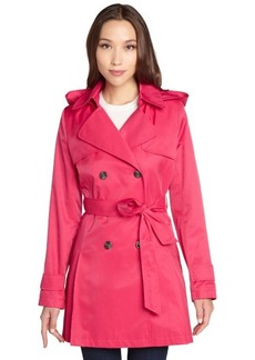 DKNY primrose cotton blend 'Abby' short hooded trench coat