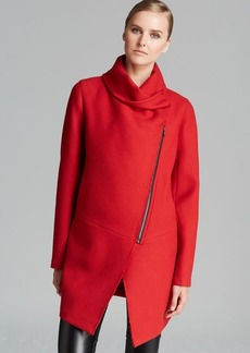 DKNY Pure Asymmetric Zip Front Coat