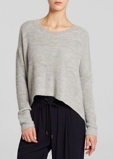 DKNY Pure Cropped Rib Knit Sweater