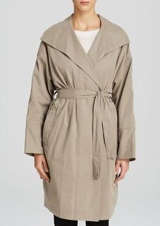 DKNY Pure Drape Front Trench Coat