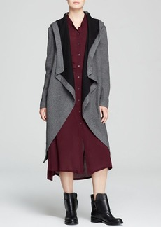 DKNY Pure Hooded Wrap Coat