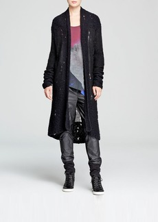DKNY Pure Open Knit Long Cardigan