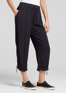 DKNY Pure Roll Cuff Crepe Drawstring Pants