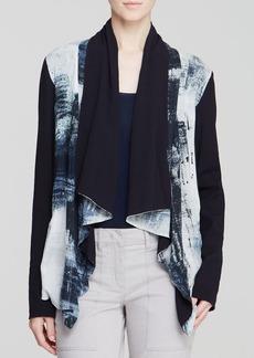 DKNY Pure Smudge Print Draped Jacket