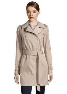 DKNY sand cotton blend asymmetrical 'Peyton' trench