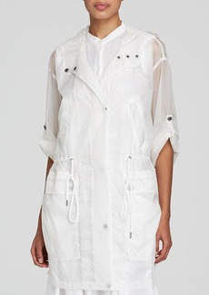 DKNY Sheer Drawstring Anorak - Bloomingdale's Exclusive
