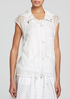 DKNY Sheer Hooded Anorak Vest - Bloomingdale's Exclusive