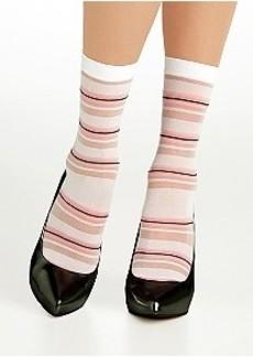 DKNY Sheer Stripe Crew Socks