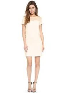 DKNY Shift Dress with Scallop Trim