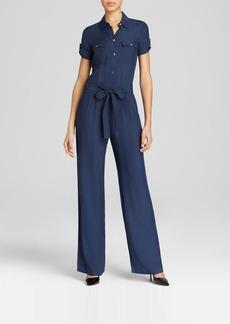 DKNY Short Sleeve Jumpsuit