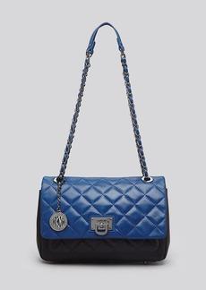 DKNY Shoulder Bag - Gansevoort Quilted Colorblock Flap Pocket