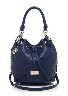 DKNY Shoulder Bag - Quilted Nappa Drawstring Bucket
