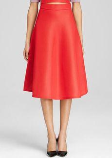 DKNY Solid Mesh Full Midi Skirt