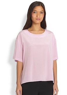 DKNY Stretch Silk Peplum Blouse