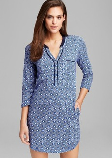 DKNY Three Quarter Sleeve Geo Print Sleepshirt