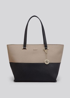 DKNY Tote - Colorblock Bryant Park Saffiano Shopper With Pocket