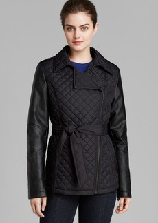 DKNY Trench - Niki Asymmetric Quilted