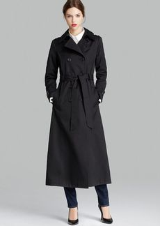 DKNY Trench Coat - Double Breasted Belted Maxi