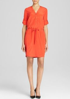 DKNY V Neck Shirt Dress