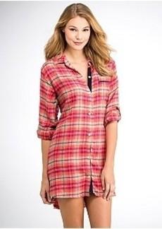 DKNY Woven Boyfriend Night Shirt