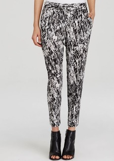 DKNYC Abstract Print Cropped Pants
