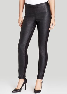 DKNYC Embossed Faux Crocodile Leather Leggings
