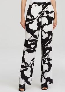 DKNYC Floral Print Wide Leg Pants