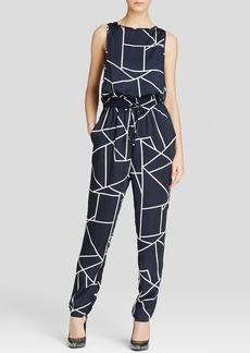DKNYC Geometric Print Jumpsuit
