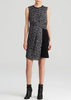 DKNYC Graphic Pattern Block Dress