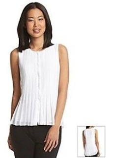 DKNYC® Pleated Button Top