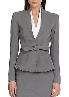 Donna Karan Belted Wrap Jacket