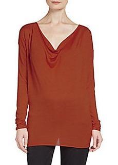 Donna Karan Cashmere, Wool & Silk Knit Top