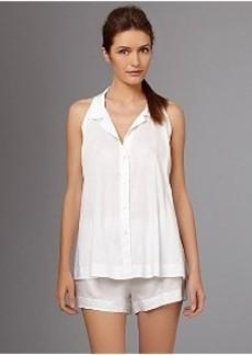Donna Karan Cotton Sateen Woven Pajama Set
