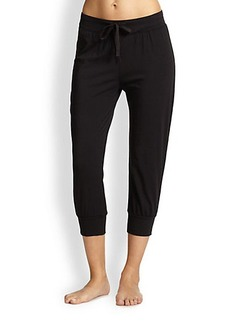 Donna Karan Cropped Cotton Jersey Pants