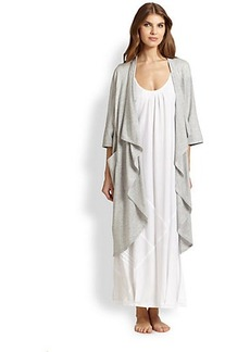 Donna Karan Draped Cotton Jersey Robe