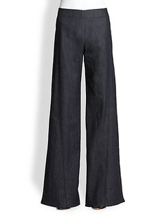 Donna Karan High-Waisted Denim Pants