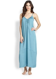 Donna Karan Laundered Long Satin Gown