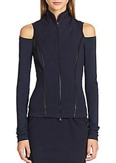 Donna Karan Leather-Trimmed Vest