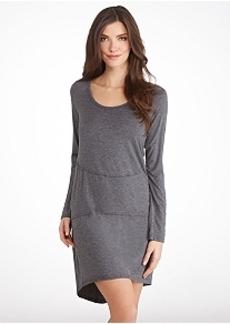 Donna Karan Liquid Jersey Knit Sleep Shirt