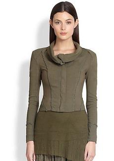 Donna Karan Mixed-Media Jacket