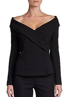 Donna Karan Off-the-Shoulder Jacket